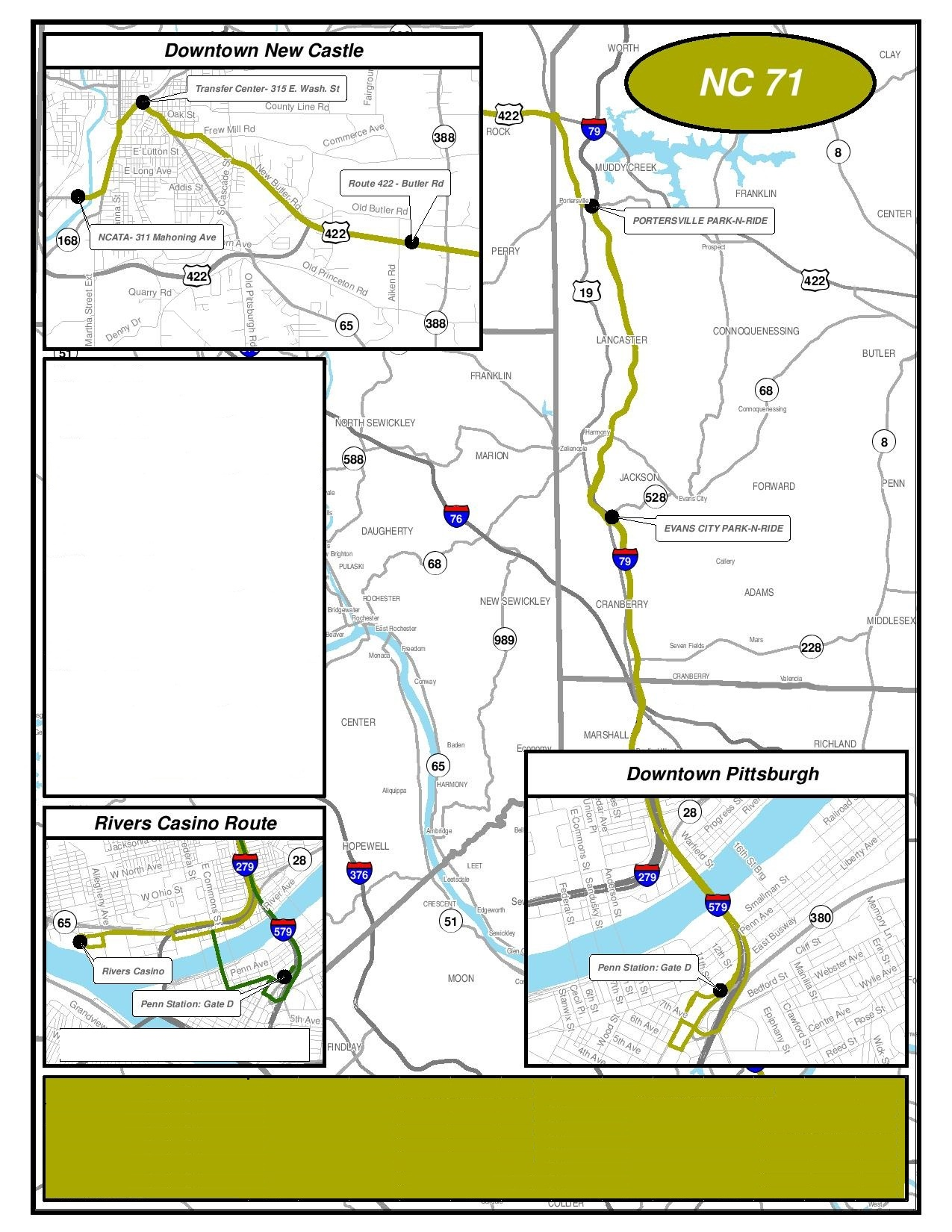pittsburgh schedule | new castle area transit authority